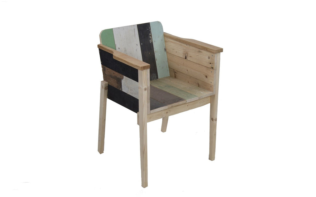 Bucket chair in Scrapwood