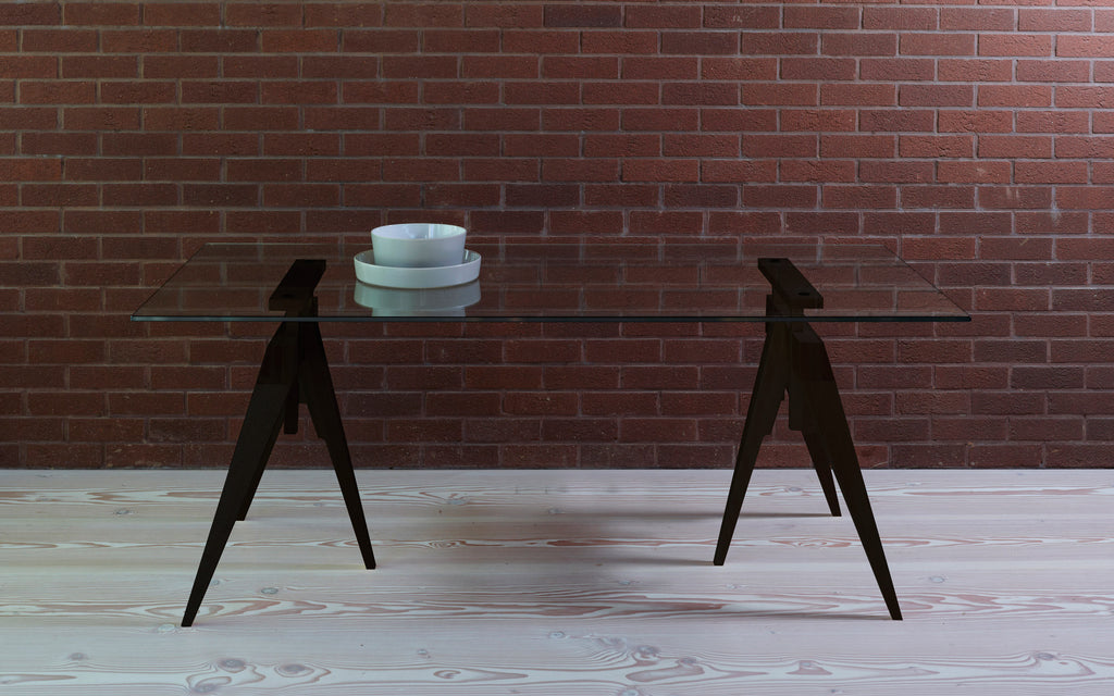 Compass Table With Glass Top ...