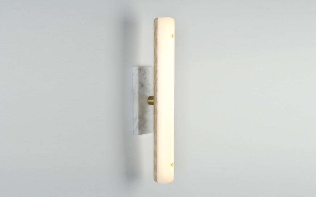 Counterweight rectangular wall sconce