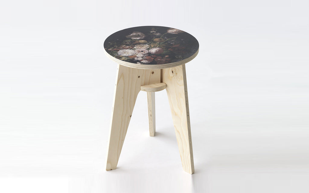 Ex-display Printed crisis stool- Still Life with Flowers