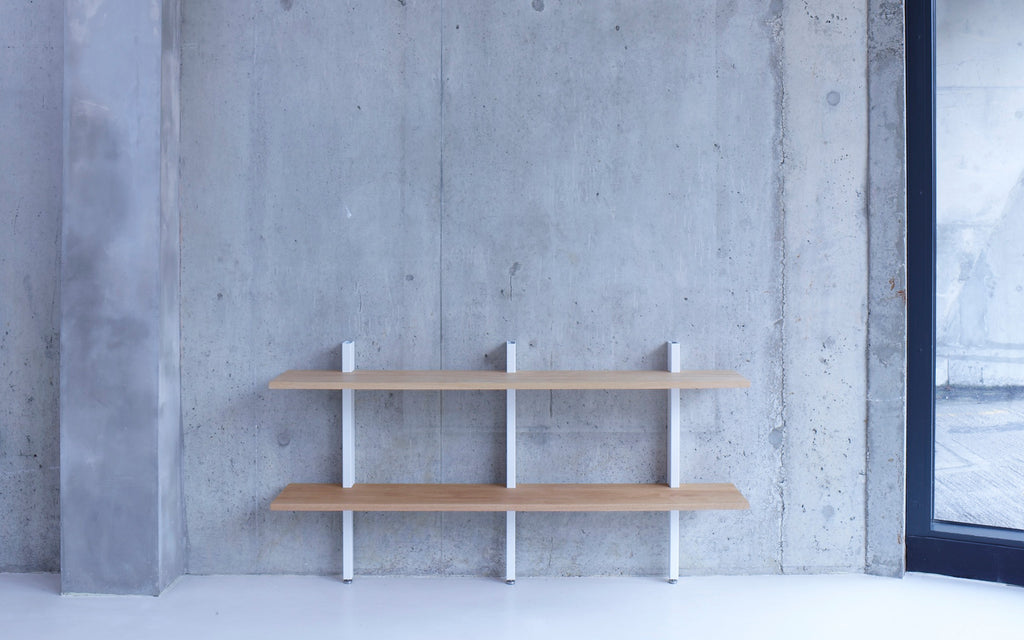Crosscut shelving - low