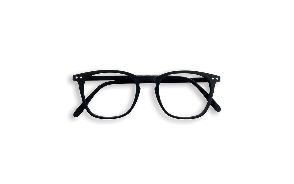 Black square frame reading glasses