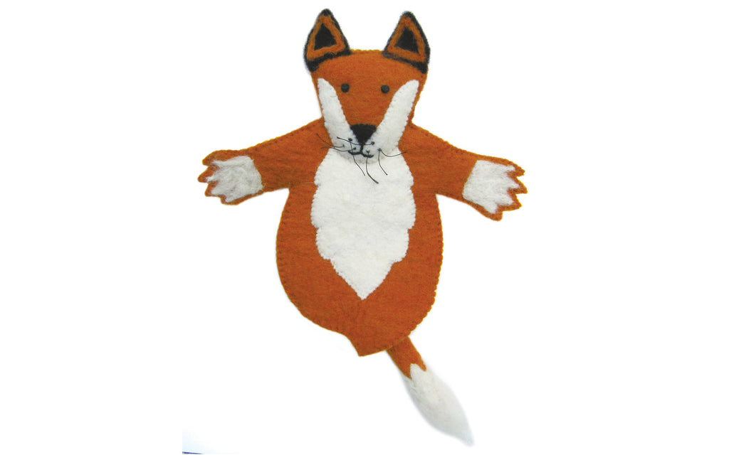 Finlay the fox felt puppet