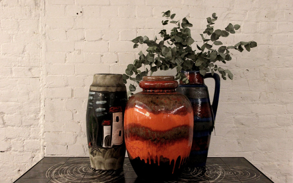 Vintage German XXL ceramic vases