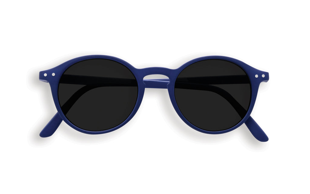 Children's Navy round frame sunglasses