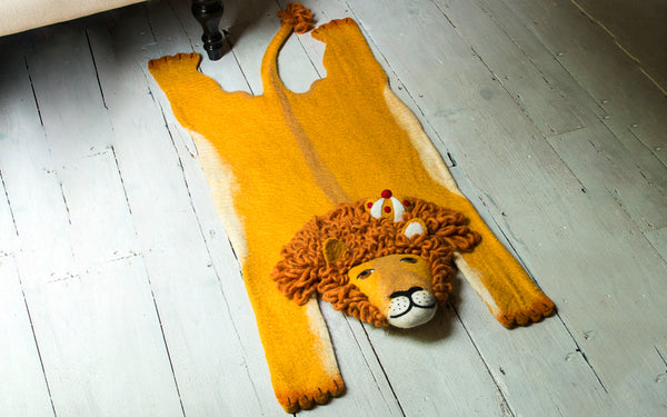 Leopold The Lion Felt Rug Scp