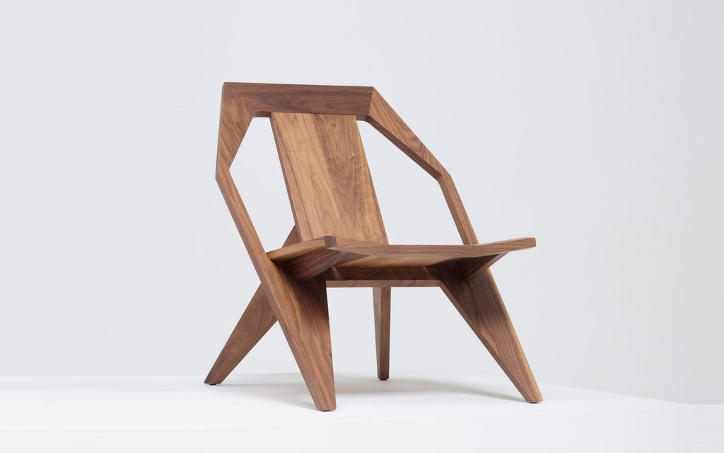 Medici lounge chair - walnut