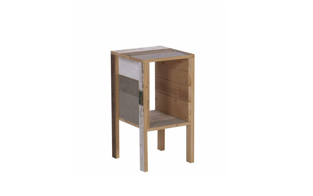 Bedside table in Scrapwood