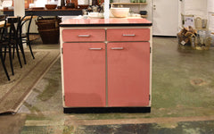 End of line Pink laminate kitchen cabinet