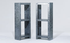 Galvanized shelving unit