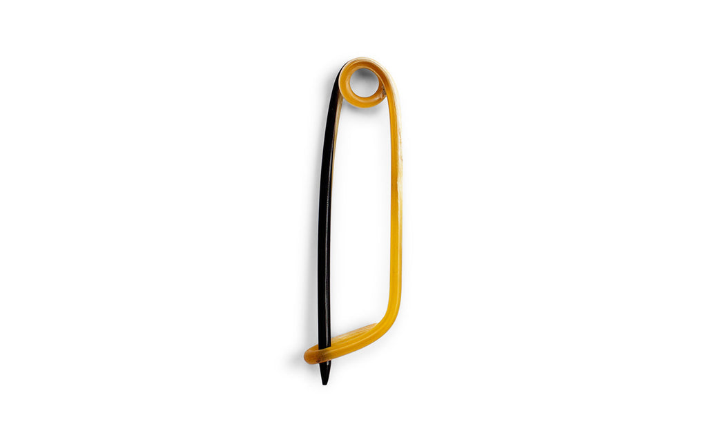 Horn safety pin