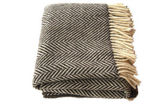 Jacob Chevron Stripe blanket-brown
