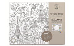 OMY Colouring Placemats - Cities