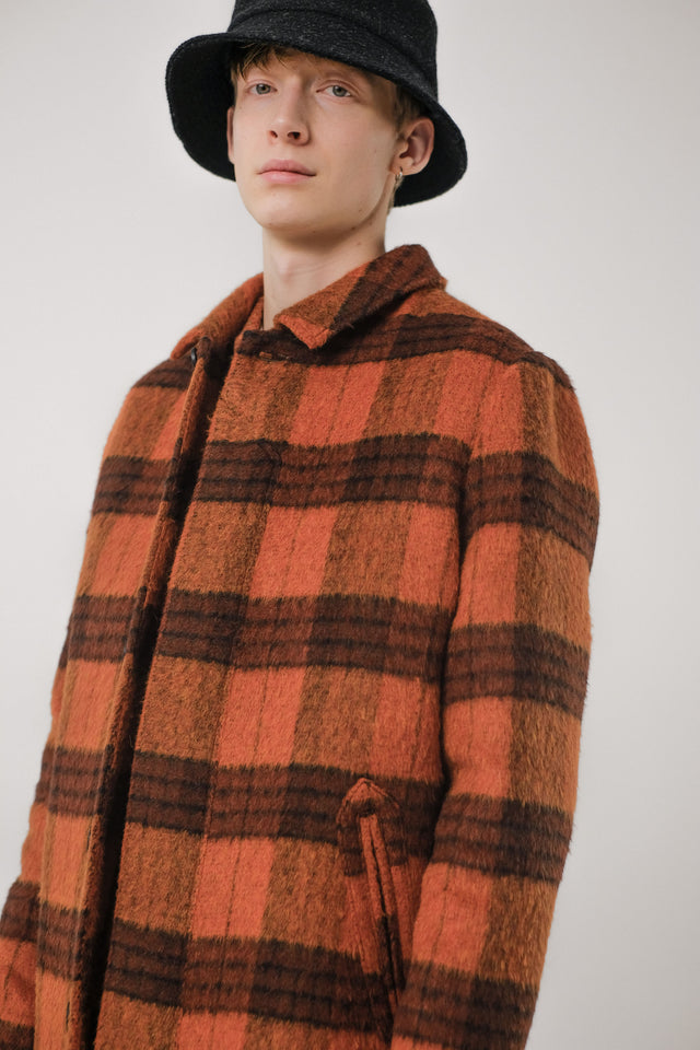 T-Coat Wool – Orange/Check
