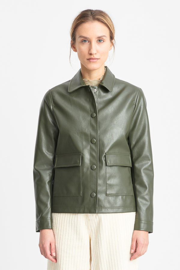 Sissel Faux Leather – Olive