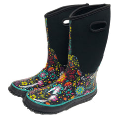 TK Floful Women's Neoprene Rubber Rainboots for Ladies winter warm