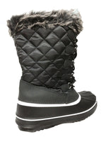 Waterproof Winter Snow Boots Warm Faux Fur Winter Boots Lace Up Nonslip Winter Shoes Gift