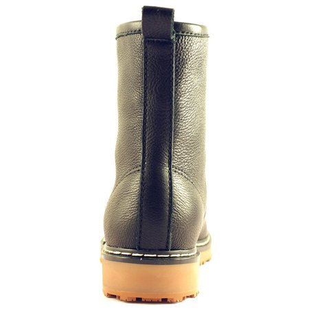Women's Slip and Oil Resistant Trendy Leather Work Boots - Tanleewa