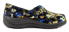 Townforst® Jodie Womens Slip Resistant Leather Color Clog Venus Galaxy