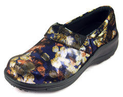 Townforst® Jodie Womens Slip Resistant Leather Color Clog Daisy