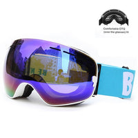 Winter Ski Goggles Double Layers Outdoor UV Protection Anti-fog Big Ski Mask Glasses Skiing Men Women Snow Snowboard Goggles