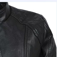 Women Autumn Winter Black Faux Leather Jackets Zipper Basic Coat Standing Collar Biker Motorcycle Outerwear