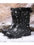 Fur Lined Men's Snow Boots Waterproof Winter Boots Anti-slip Winter Shoes Outdoor Hiking Boots