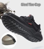 Breathable Safety Shoes Men's Work Boots Steel Toe Cap Puncture-Proof Indestructible Security Shoes Light Comfortable Sneakers