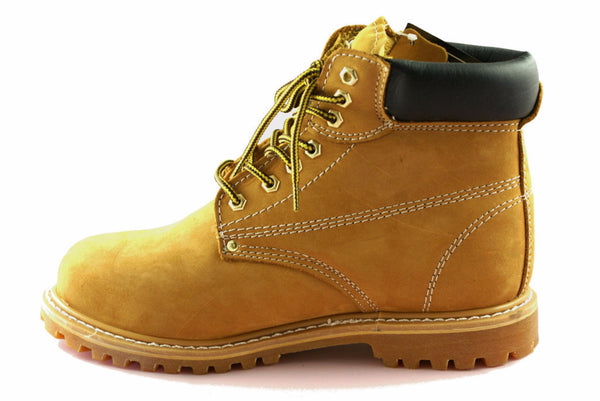 Townforst® Steel Toe Men's Slip Resistant Work Safety Boot Camel