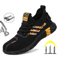 Safety Work Boots For Men Breathable Safety Shoes Air Mesh Work Shoes Steel Toe Puncture-proof Indestructible Shoes Work Sneaker
