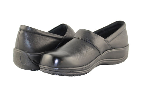 Townforst® Jodie Womens Slip Resistant Leather Clog