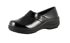 Townforst Rachel Womens Slip Resistant Leather Clog