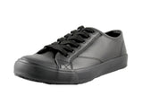 Townforst Cheer Women's Slip and Oil Resistant Shoes Leather Black
