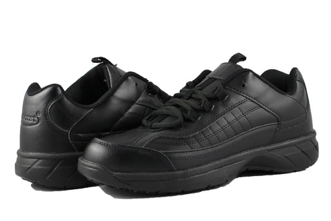 Townforst George Slip Resistant Black Non Slip Composite Toe Waiter Shoes