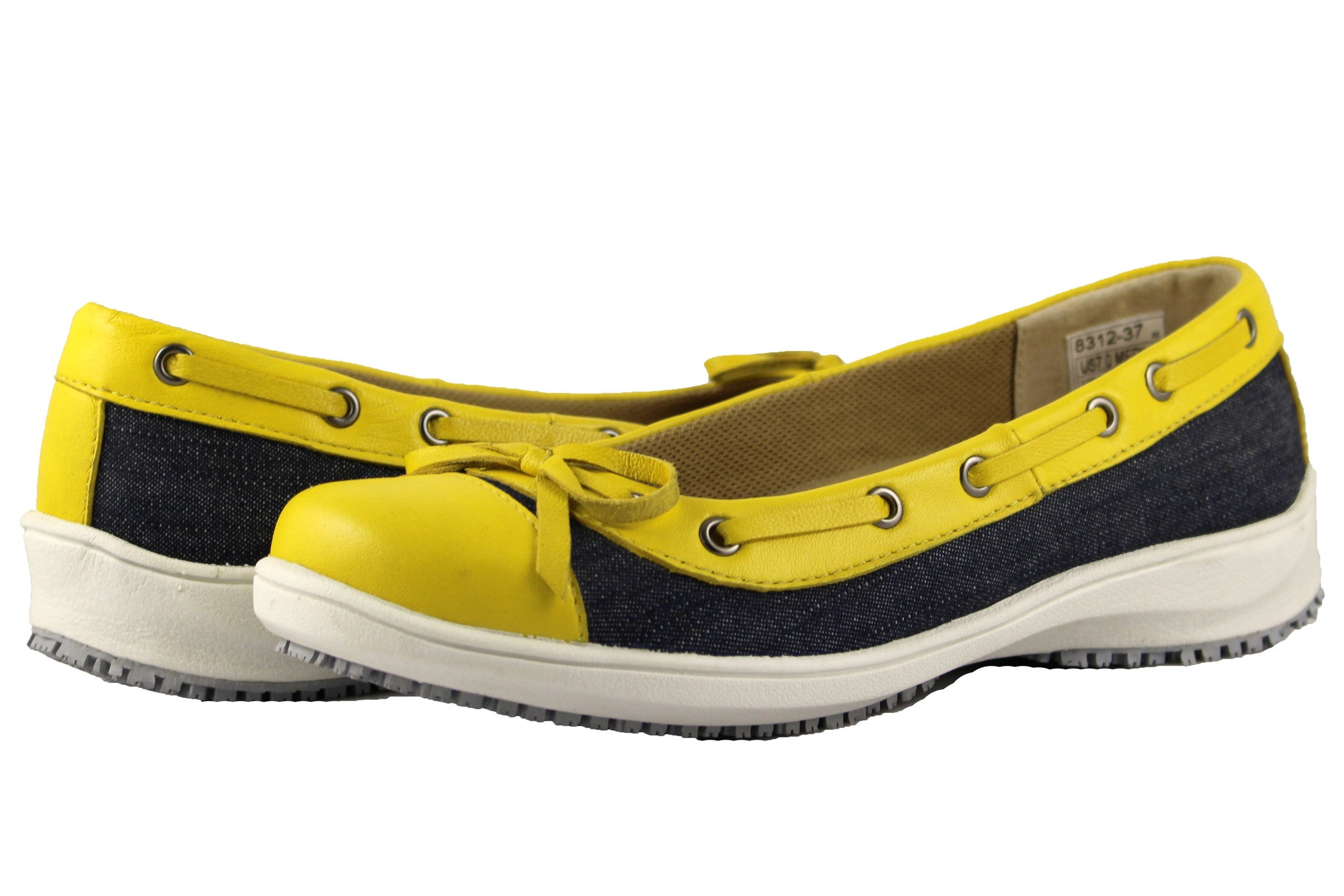 Townforst® Selena Women's Slip Resistant Shoes Yellow