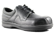 Mens Slip and Oil Resistant Black Leather Composite Toe Shoe - Tanleewa