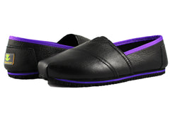 Townforst FroggeeII Womens Slip and Oil Resistant Slip On Shoes Color Leather