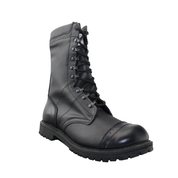 Mens Military Boots Black - Tanleewa