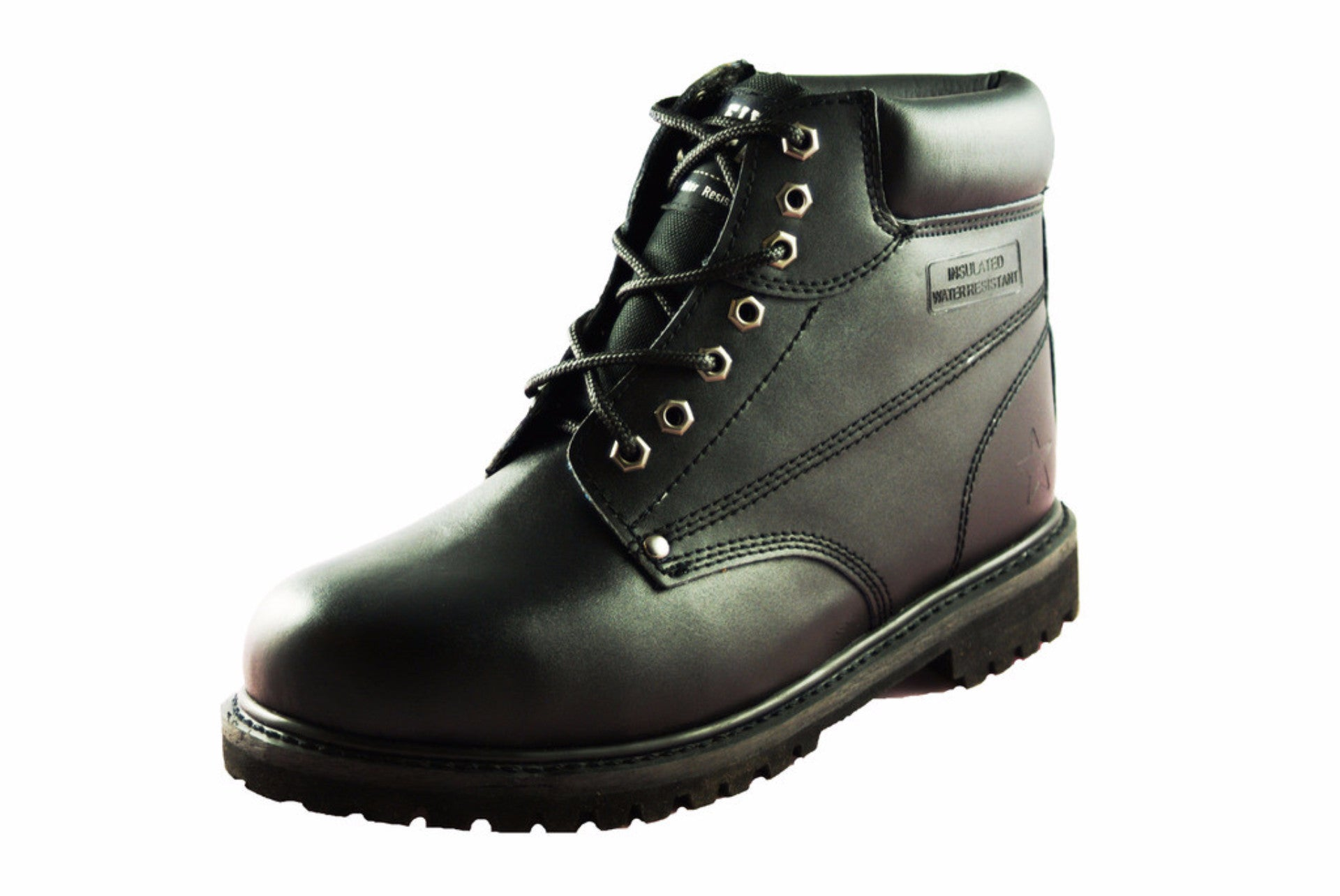 Townforst® Steel Toe Men's Slip Resistant Work Safety Boot Black