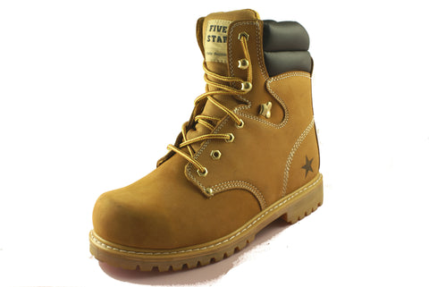 Townforst® Steel Toe Men's Slip Resistant WorkSafety Boot Camel