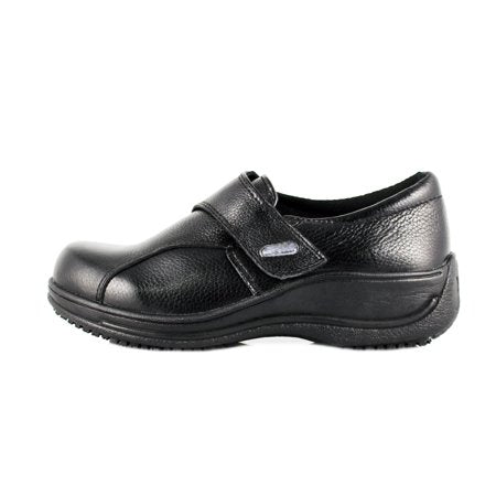 Slip & Oil Resistant Slip On Leather Shoes For Women - Tanleewa