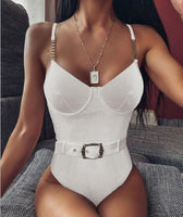 Sexy Lingerie Set Women Fashion Sexy Solid Color Jumpsuit Push-Up
