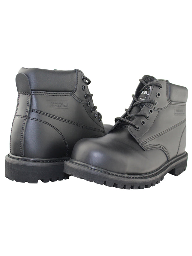 Safety Steel-Toe Insulated Water Resistant Ankle Work Shoes - Tanleewa