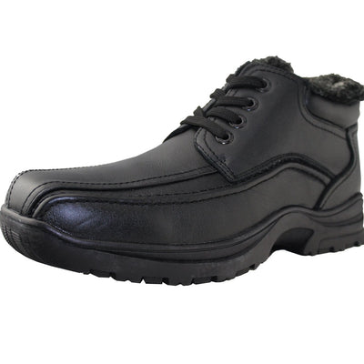 Men Winter Shoes Leather Work Shoes - Tanleewa