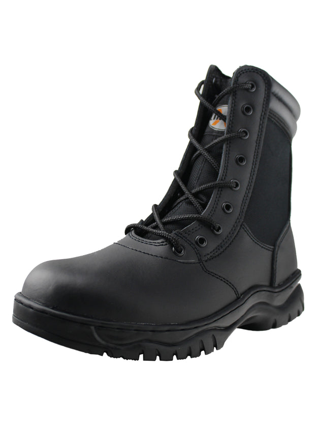 Mens Waterproof Side Zipper Tactical Boot - Tanleewa