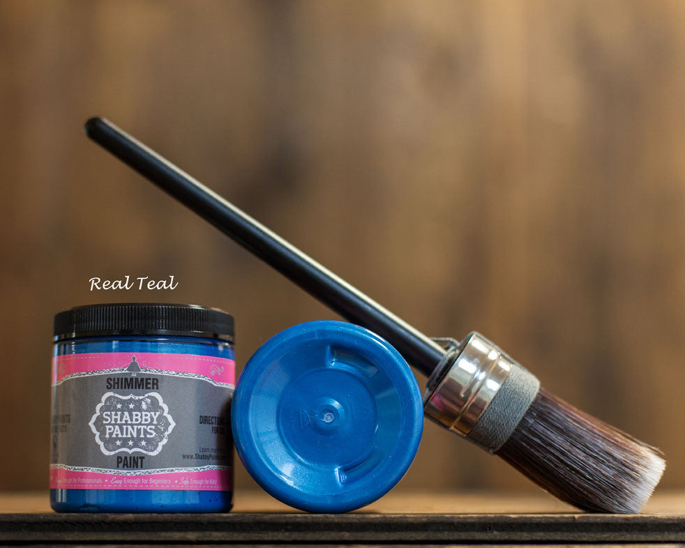 Real Teal Shimmer Paint