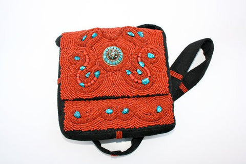 Coral Bead Bag of Bhutan