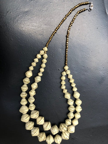 NEW! Two-Strand Cream & Gold