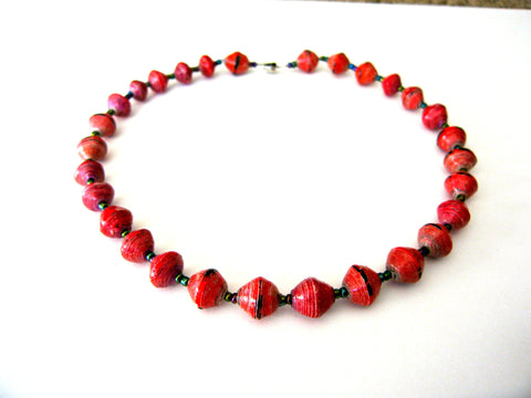 Ruby the Short Bead Necklace - A Fair Trade World