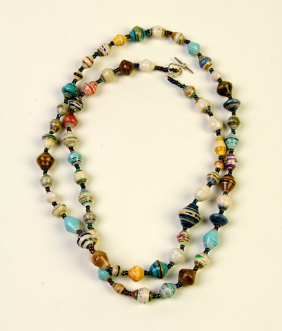 Chandler Extra Long Bead Necklace - A Fair Trade World